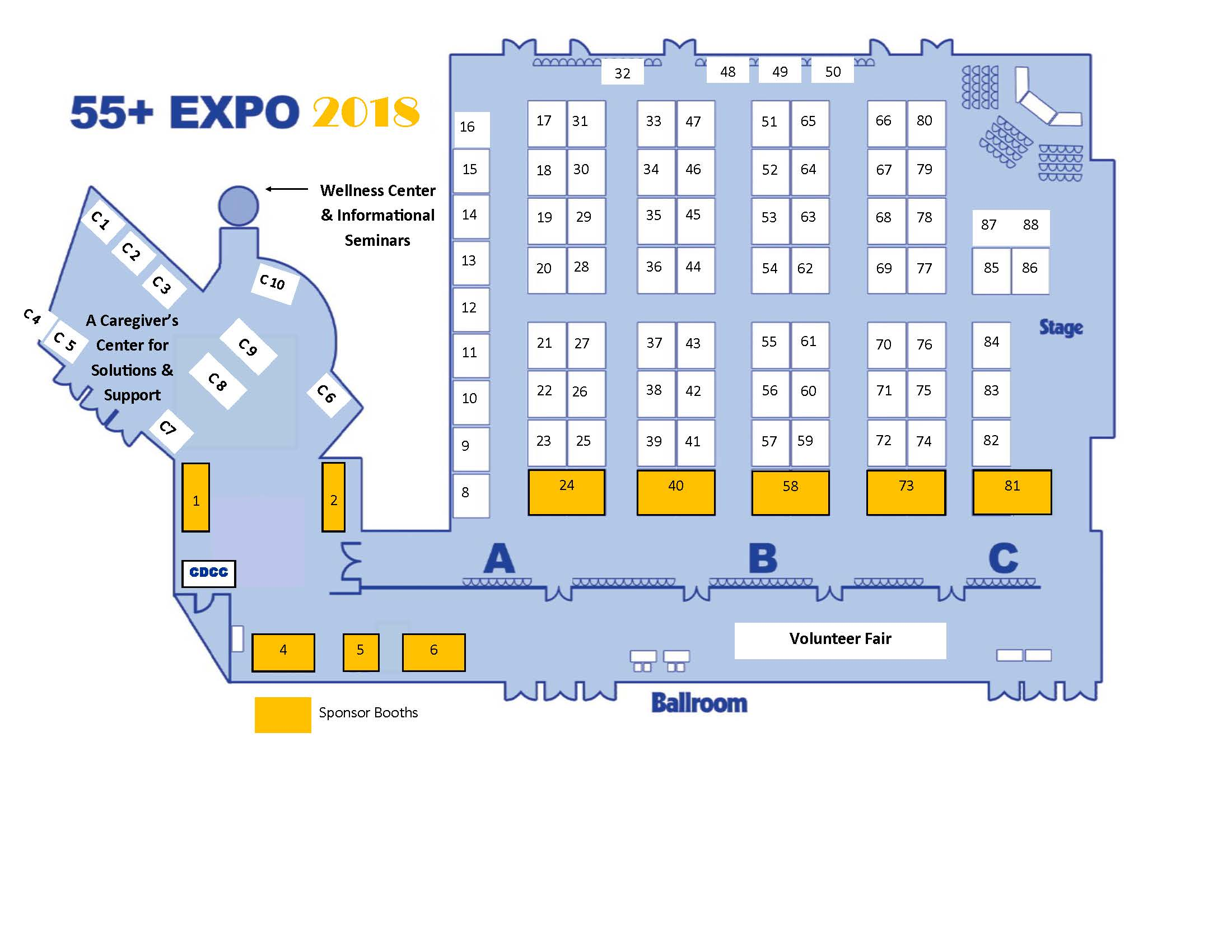 55 Plus Expo Floorplan Central Delaware Chamber Of Commerce