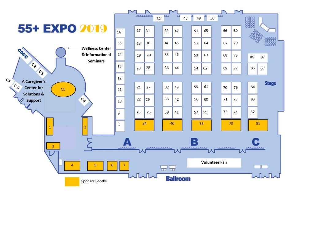 55 Plus Expo Floorplan Central Delaware Chamber Of Commerce